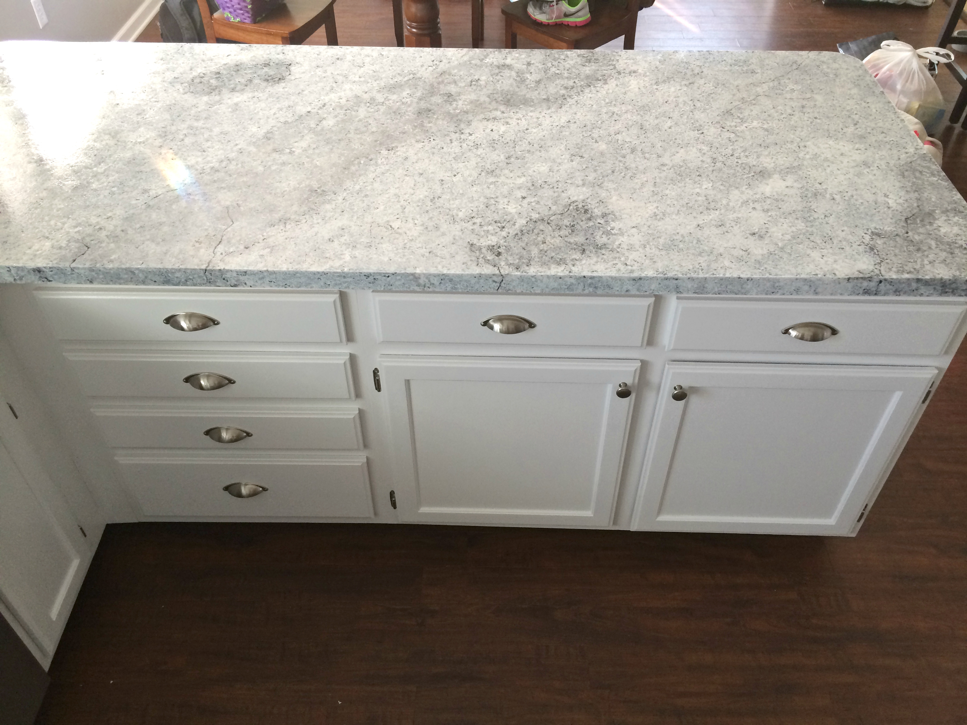 Countertop Paint Instructions : Countertop Redo with Giani Granite Countertop Paint ? Life in Pearls ...
