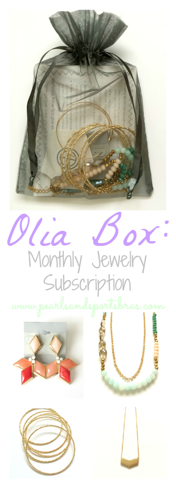 Olia Box Monthly Jewelry Subscription Pearls and Sports Bras