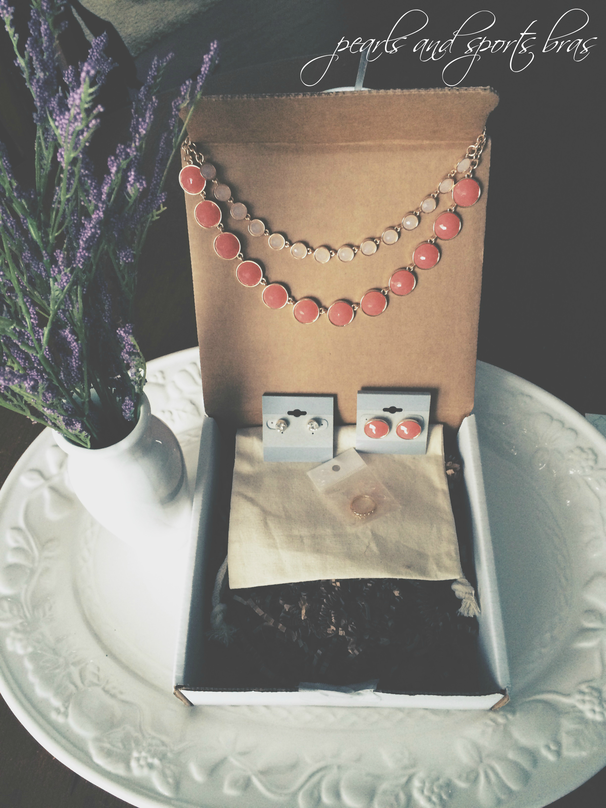 Olia Box February Review Pearls and Sports Bras