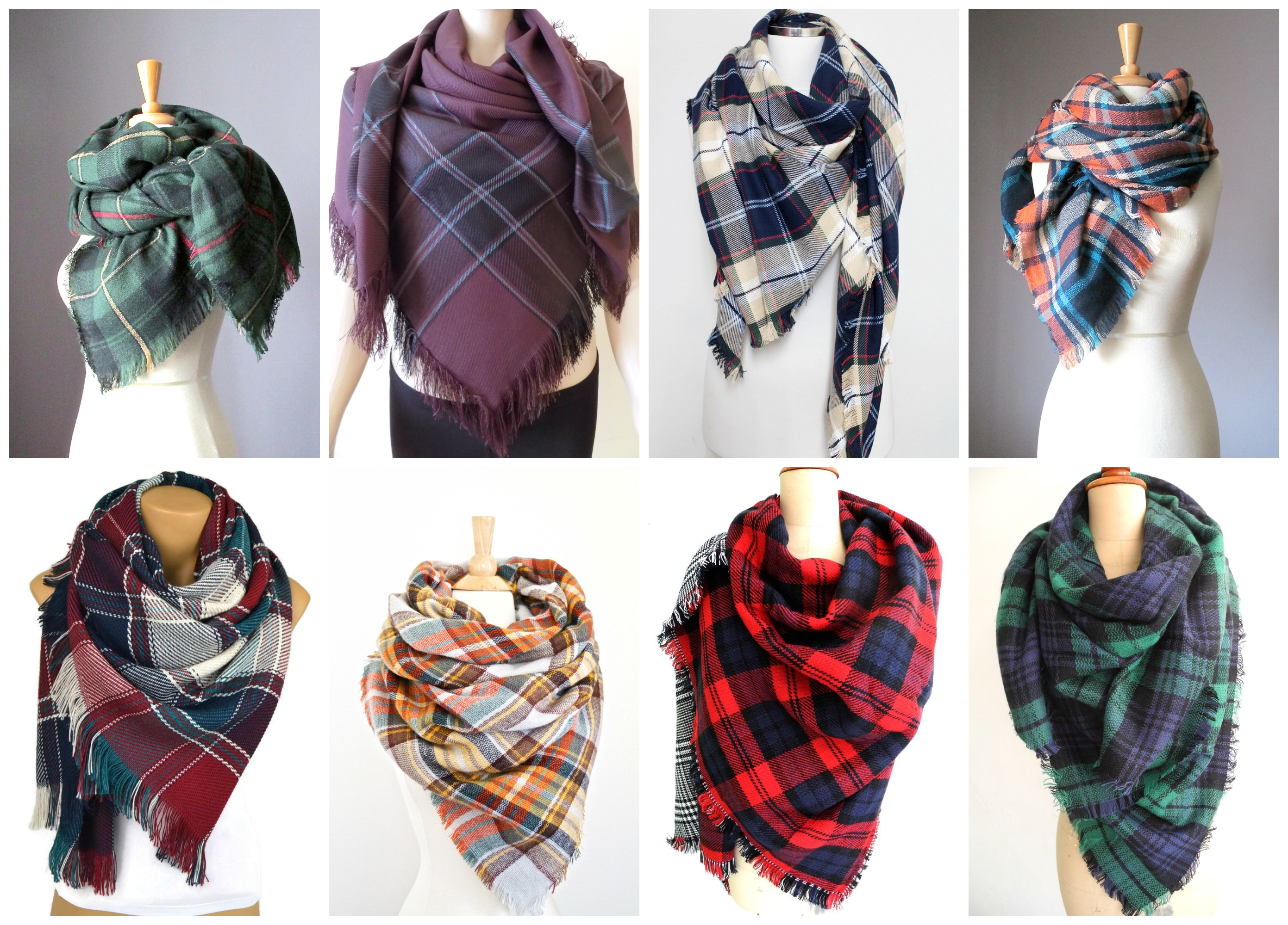etsy finds friday plaid fall scarves in pearls and