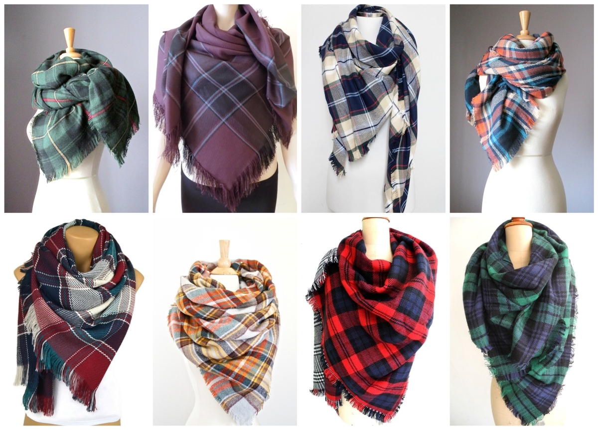 Etsy Finds: My favorite plaid scarves! Check them out at www.pearlsandsportsbras.com