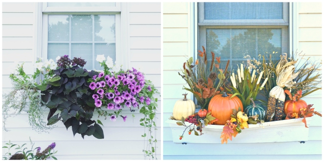 Window Boxes: Transition from Summer to Fall |www.pearlsandsportsbras.com|