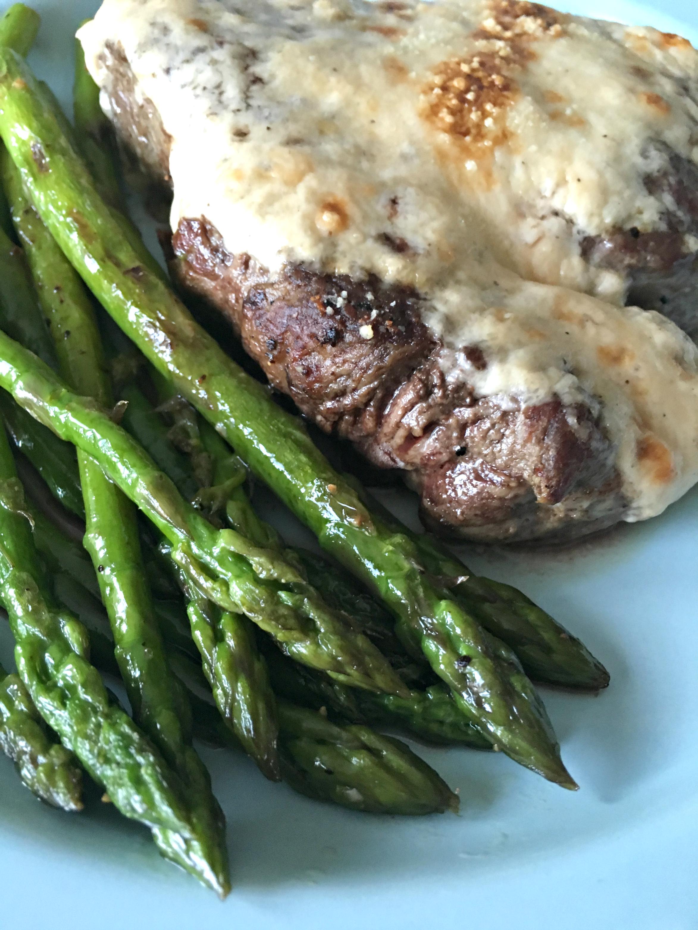 Parmesan Crusted Beef Tenderloin Steaks with Garlic ...