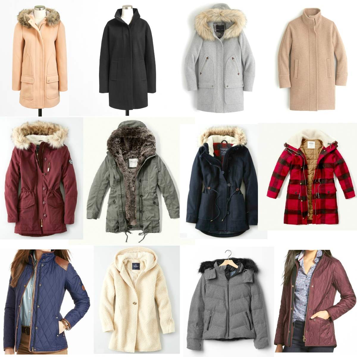Outerwear and Coats for Winter 2015  www.pearlsandsportsbras.com 