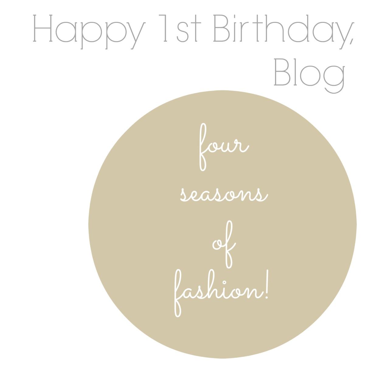 Four Seasons of Fashion! 2015