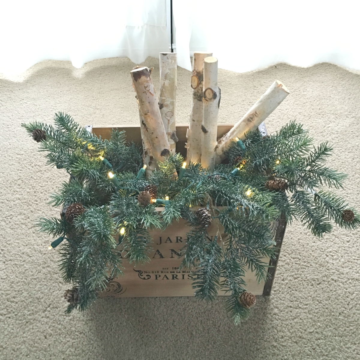 Lighted Birch Holiday Boxes: so easy! |www.pearlsandsportsbras.com|