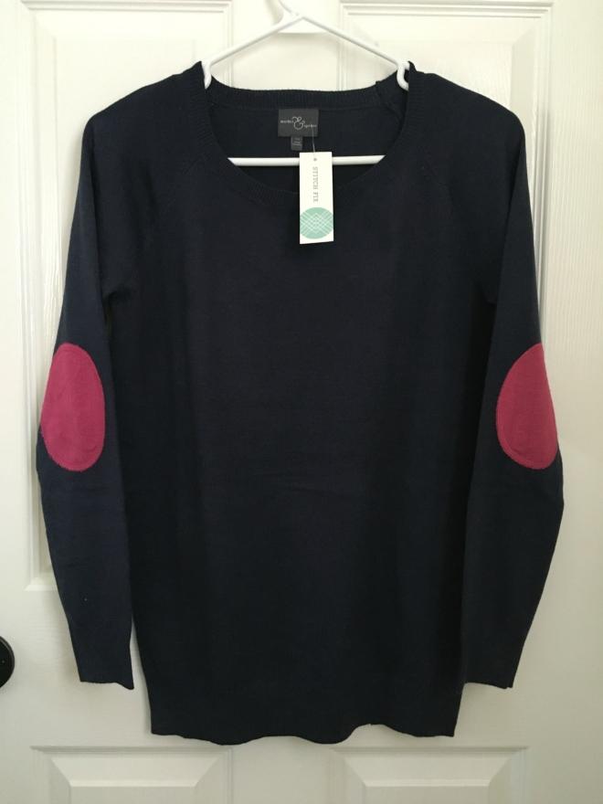 Stitch Fix: Market & Spruce Fierro Elbow Patch Crew Neck Sweater  www.pearlsandsportsbras.com 