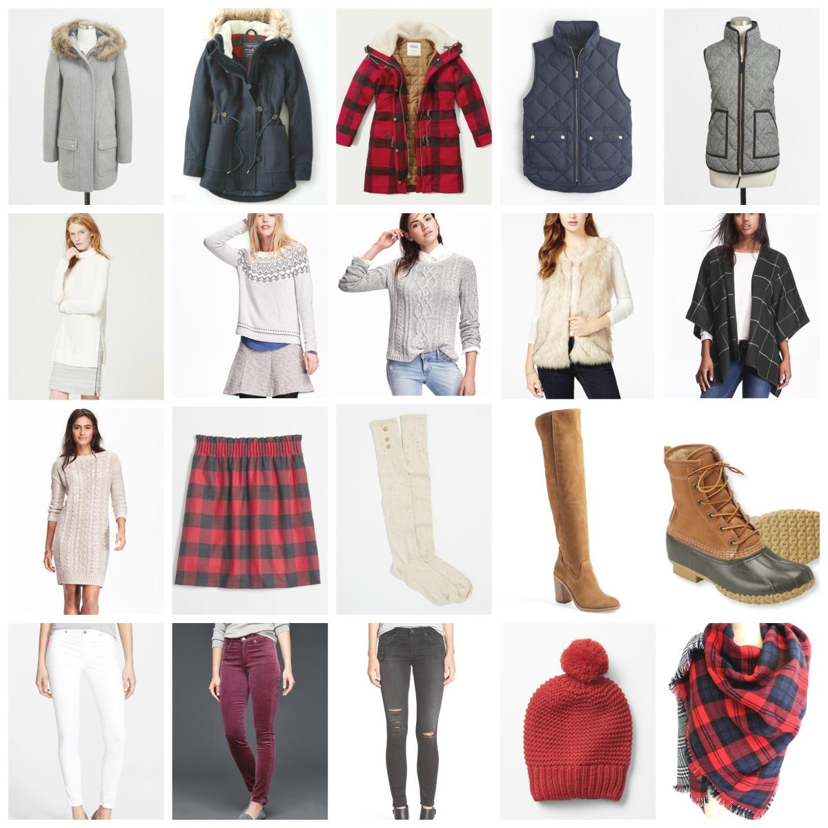 Winter 2015 Wardrobe Essentials  www.pearlsandsportsbras.com 