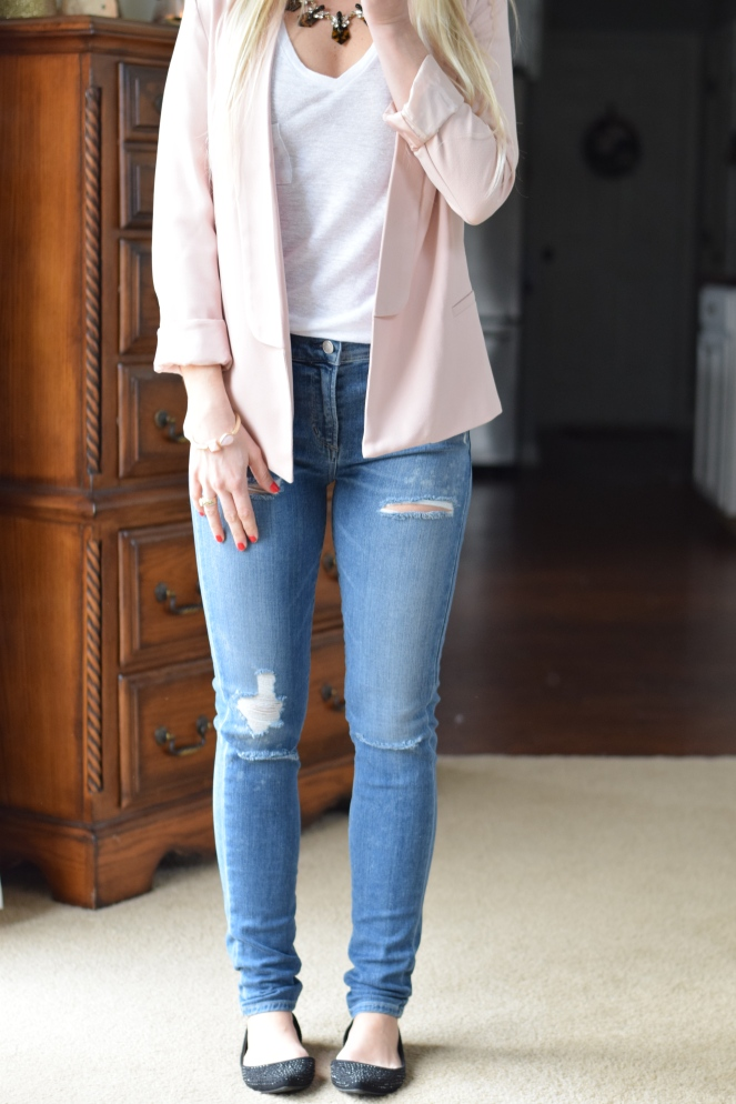 December 2015 Stitch Fix Review: A GOLD E Brynn Distressed High Rise Skinny Jean |www.pearlsandsportsbras.com|