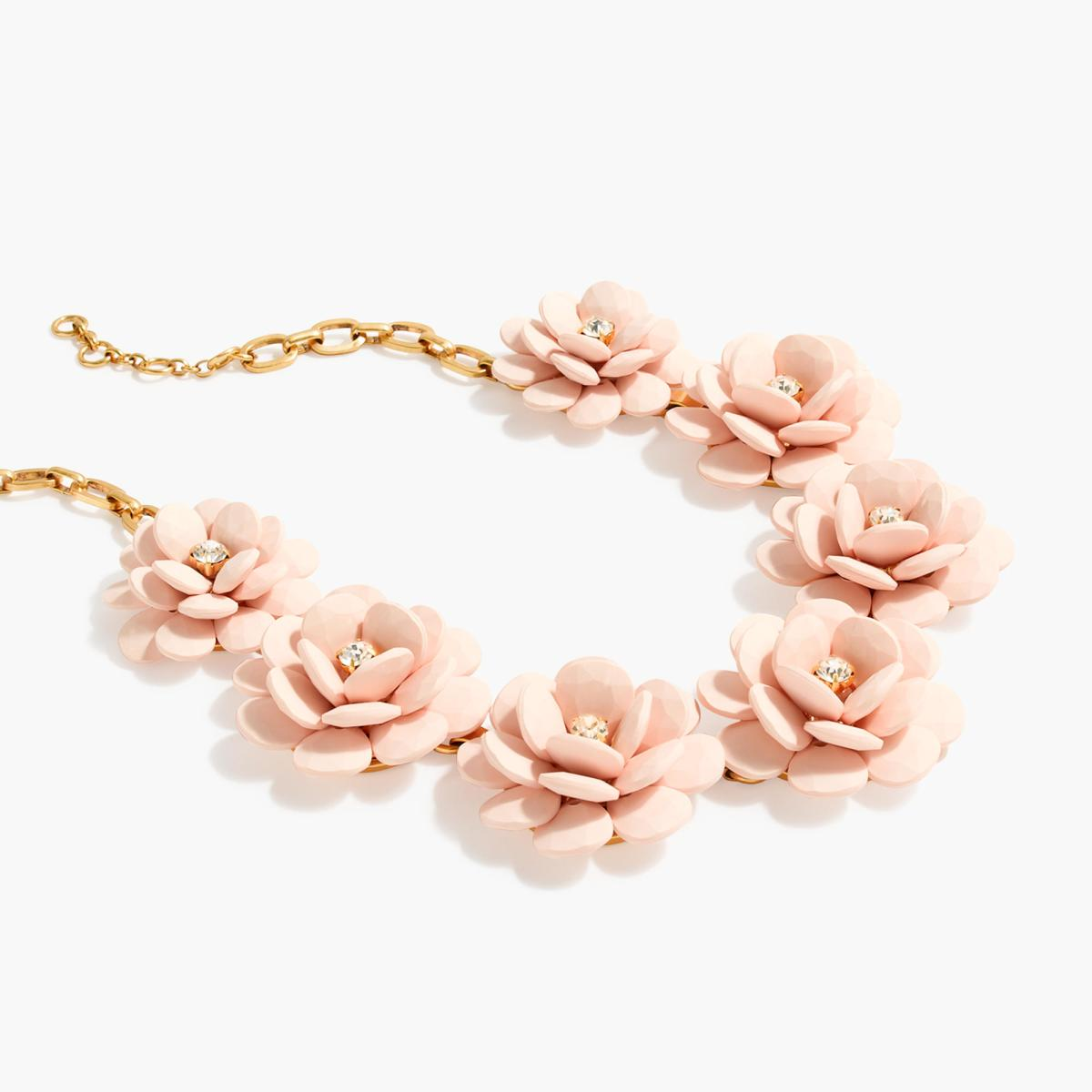 J. Crew Floral Beaded Necklace