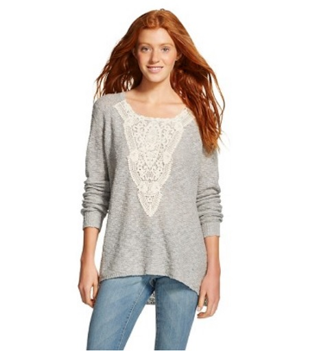 Mossimo Lace Pullover Sweater