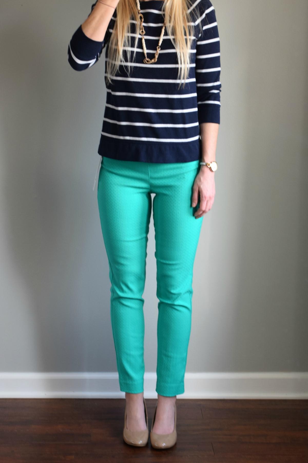 March 2016 Stitch Fix Review: Margaret M Emer Printed Straight Leg Pant |www.pearlsandsportsbras.com|