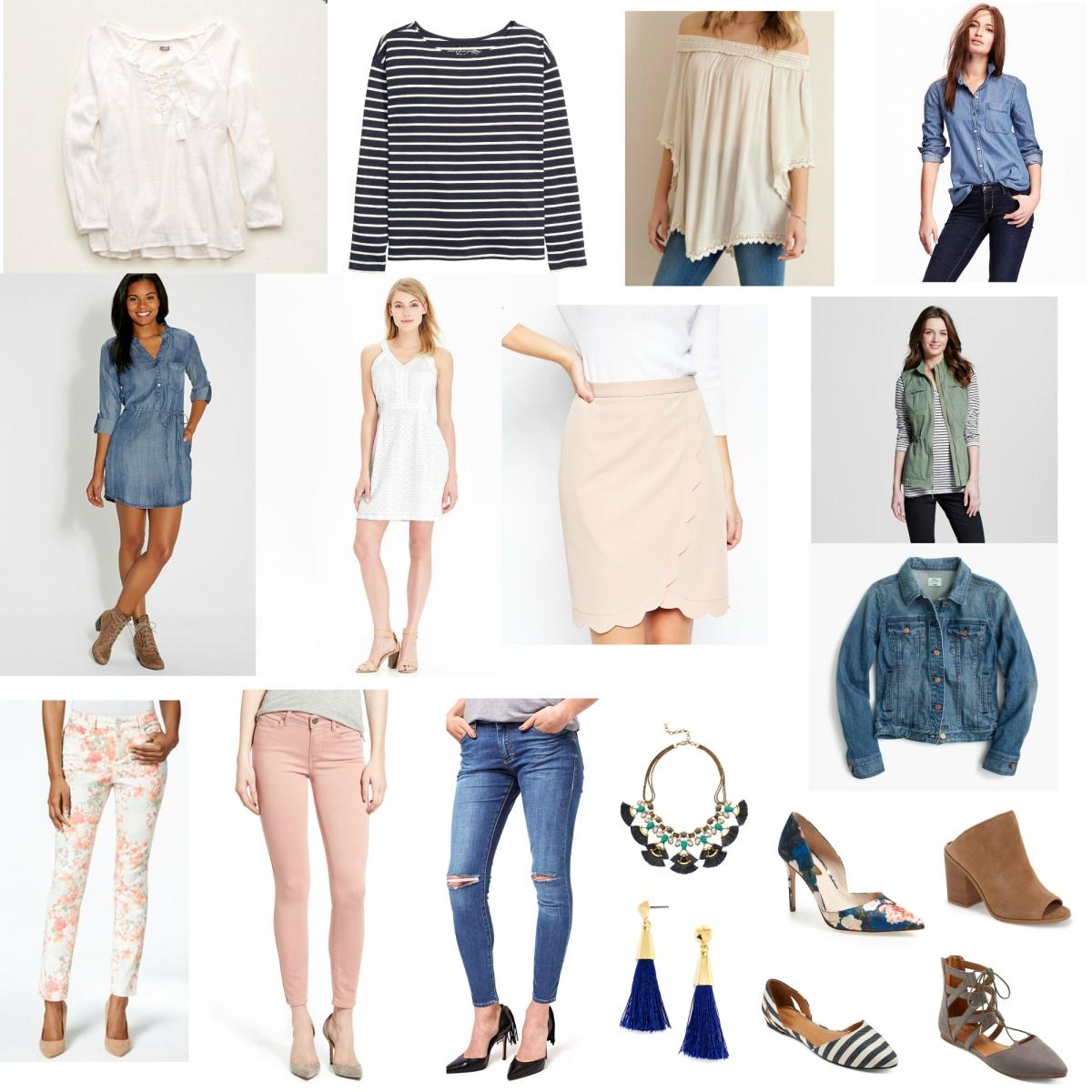 Spring 2016 Wardrobe Essentials |www.pearlsandsportsbras.com|