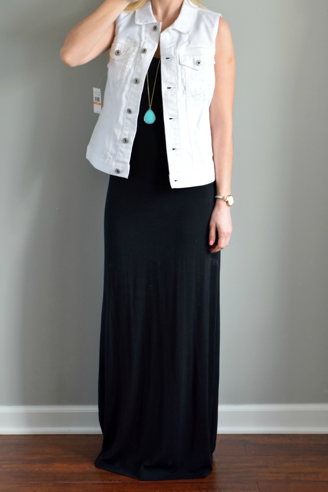 Trunk Club Review: Two by Vince Camuto White Denim Vest |www.pearlsandsportsbras.com|