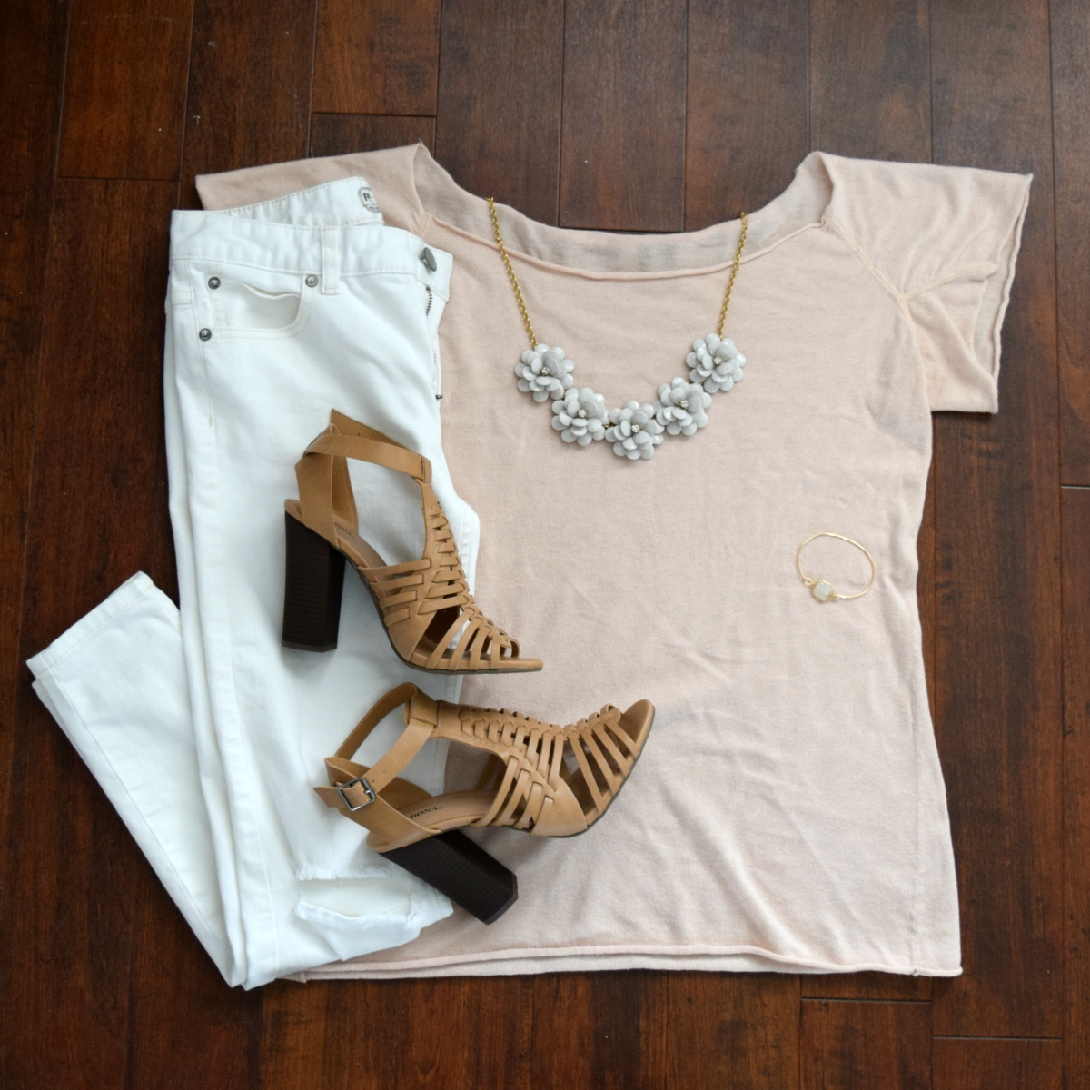 white and blush, off the shoulder and flowers, two perfect combinations  www.pearlsandsportsbras.com 
