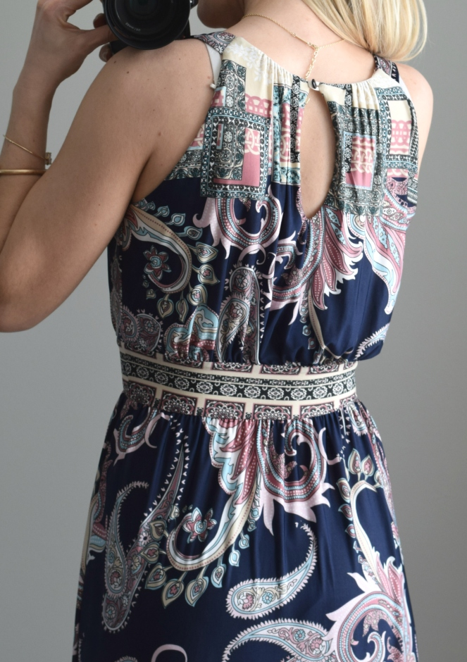March 2016 Stitch Fix Review: Gilli Kodi Jersey Maxi Dress |www.pearlsandsportsbras.com|