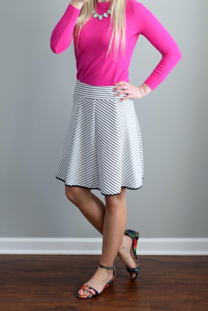 Stitch Fix Shoe Review: Diba Jessica Floral Wedge |www.pearlsandsportsbras.com|