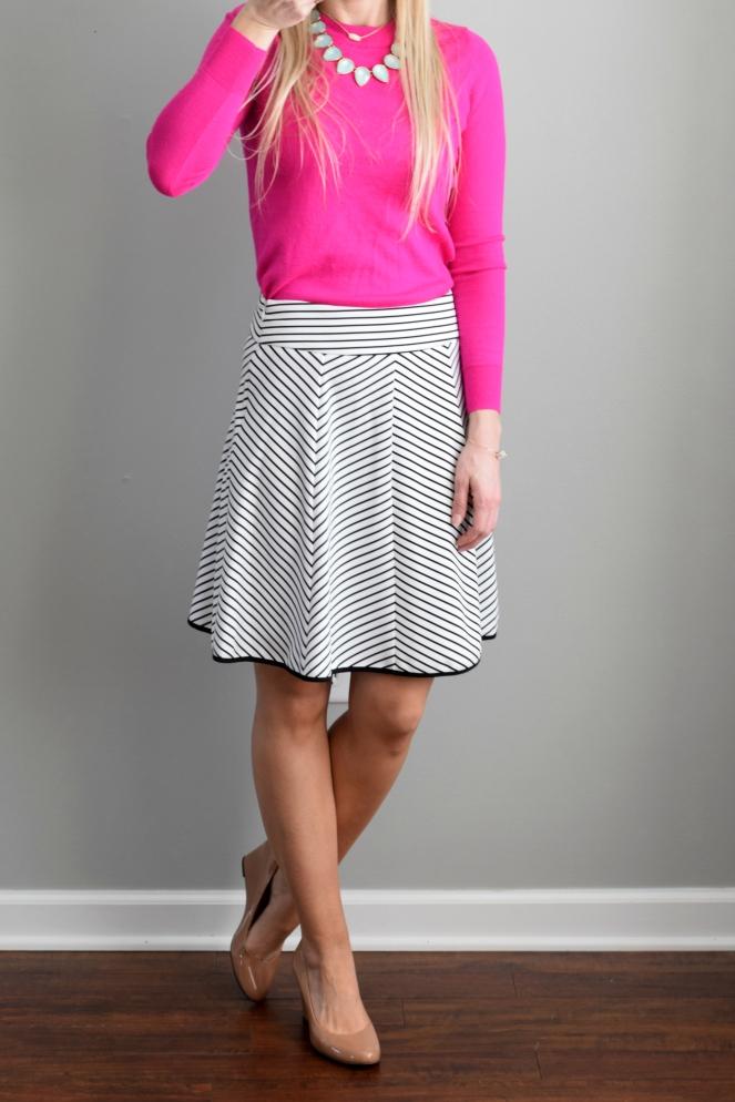 March 2016 Stitch Fix Review: Pixley Triste Swing Skirt |www.pearlsandsportsbras.com|