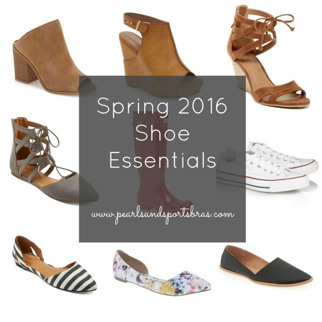 Spring 2016 Shoe Essentials |www.pearlsandsportsbras.com|