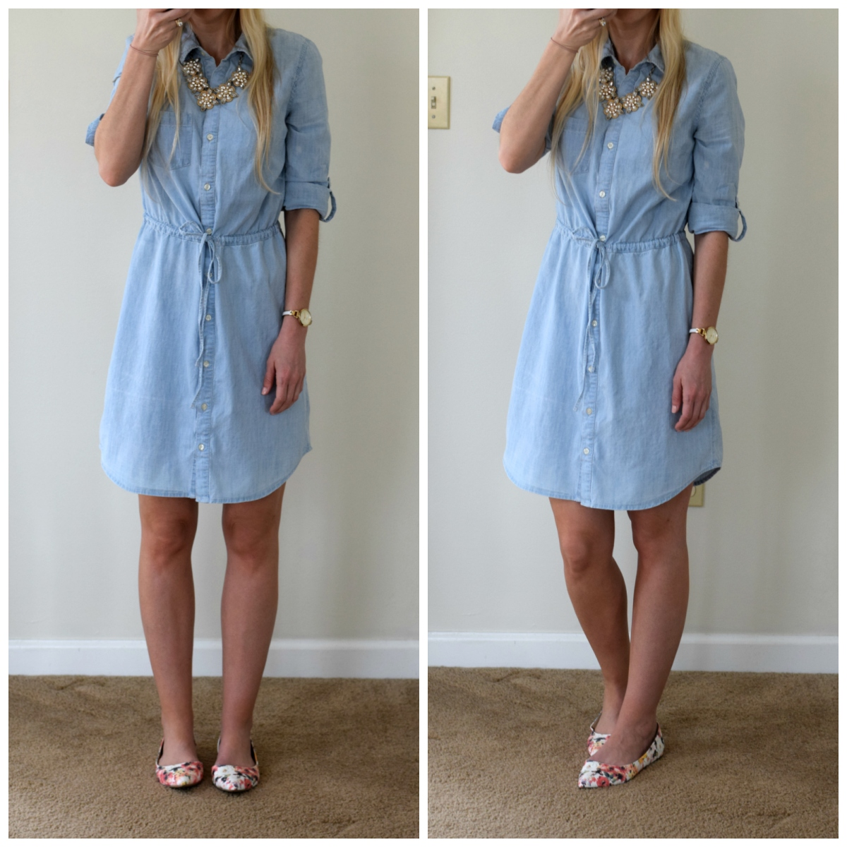 chambray and floral for spring!