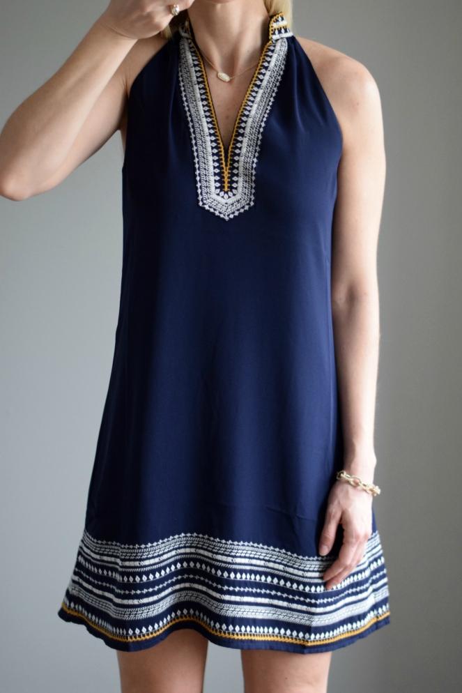 Stitch Fix April 2016: THML Chana Embroidered Dress |www.pearlsandsportsbras.com|