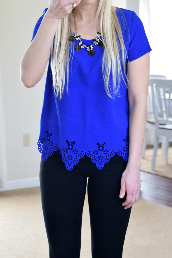 cobalt lasercut top and leopard accents |www.pearlsandsportsbras.com|