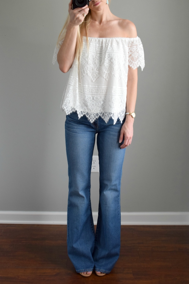 Flea Market Flare Jeans Maribel by Madewell from Trunk Club |www.pearlsandsportsbras.com|