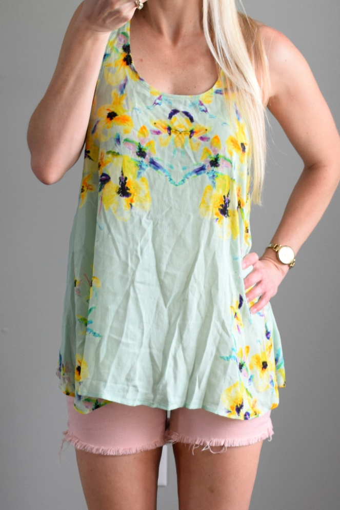 Floral Print Surplice Back Tank from Trunk Club |www.pearlsandsportsbras.com|