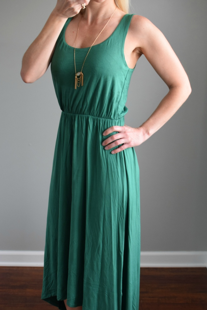 High/Low Hem Jersey Tank Dress from Trunk Club |www.pearlsandsportsbras.com|