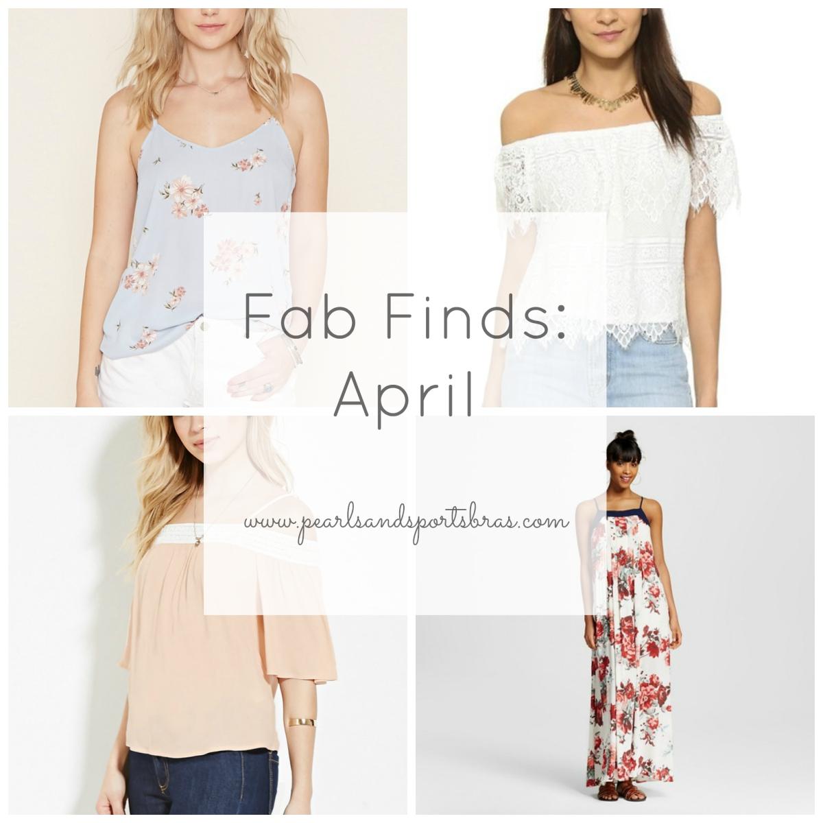 Fab Finds: April 2016  www.pearlsandsportsbras.com 
