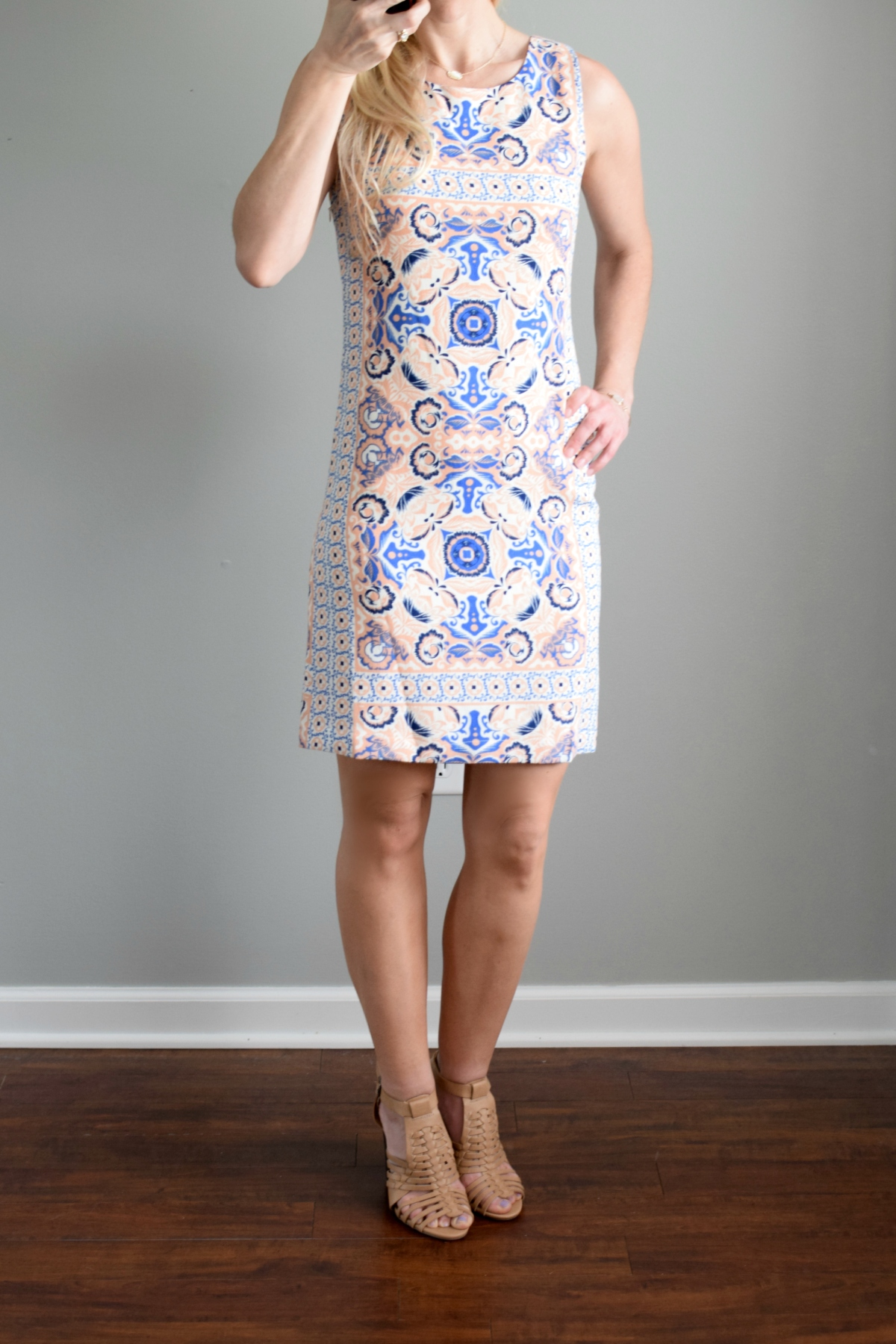 May 2016 Stitch Fix Review: Skies are Blue Maeve Crepe Dress |www.pearlsandsportsbras.com|