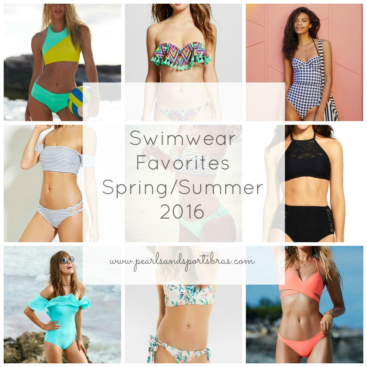 Swimwear Favorites: Spring/Summer 2016 |www.pearlsandsportsbras.com|