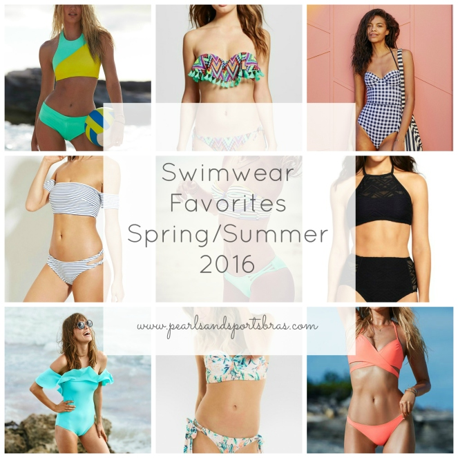Swimwear Favorites: Spring/Summer 2016 |www.pearlsandsportsbras.com|