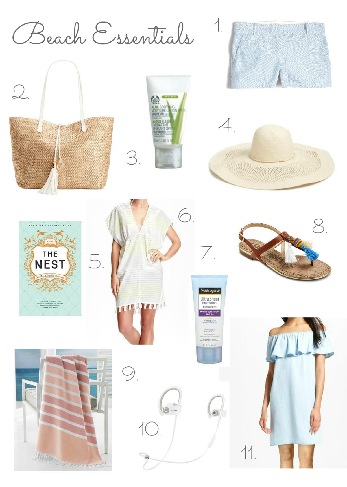 Beach Essentials 2016 |www.pearlsandsportsbras.com|