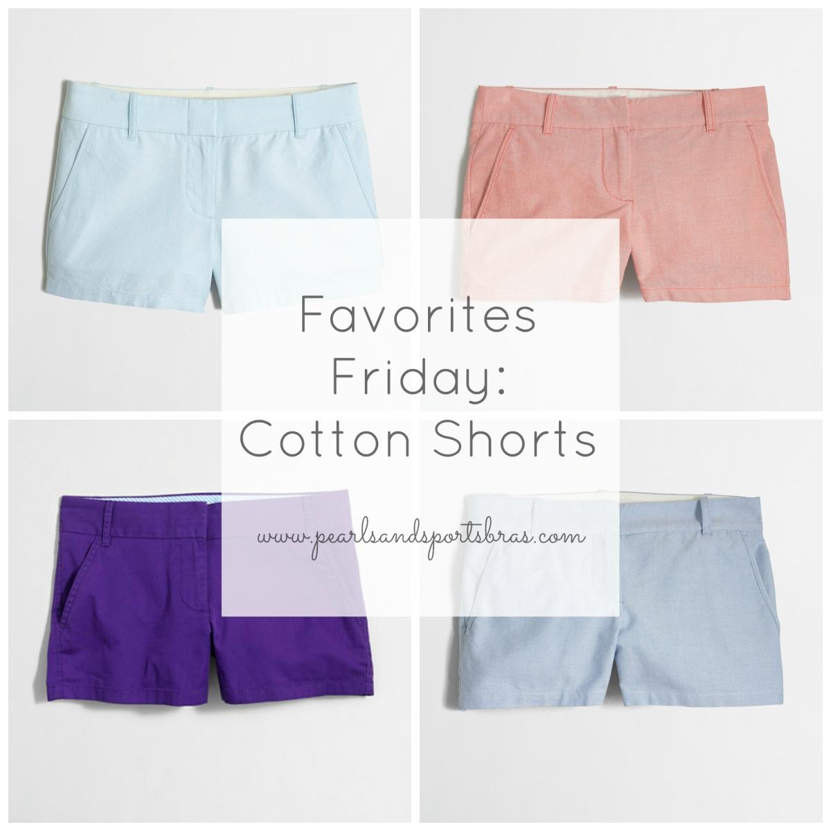 Favorites Friday: The best cotton shorts! |www.pearlsandsportsbras.com|