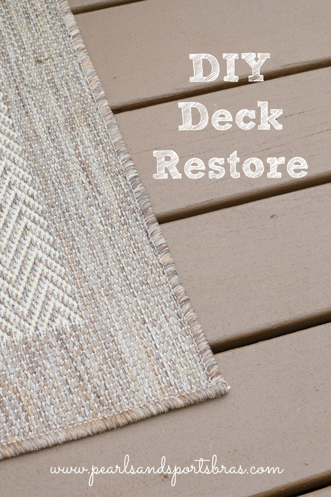 DIY Deck Restore with Olympic Rescue It! |www.pearlsandsportsbras.com|