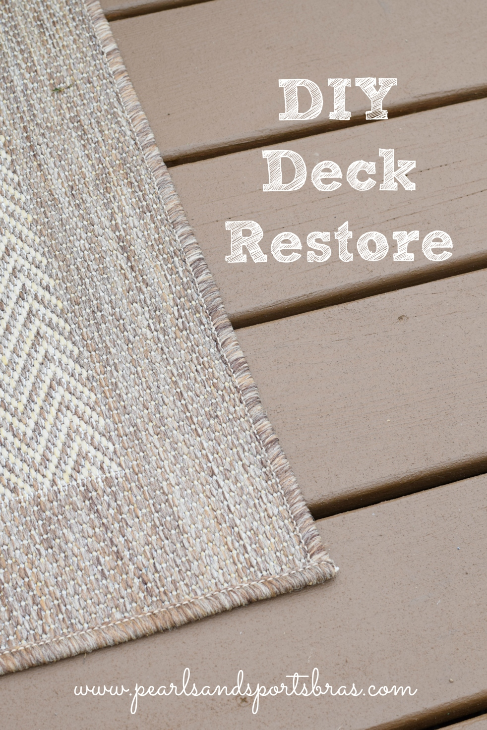 DIY Deck Restore with Olympic Rescue It! |www.pearlsandsportsbras.com|
