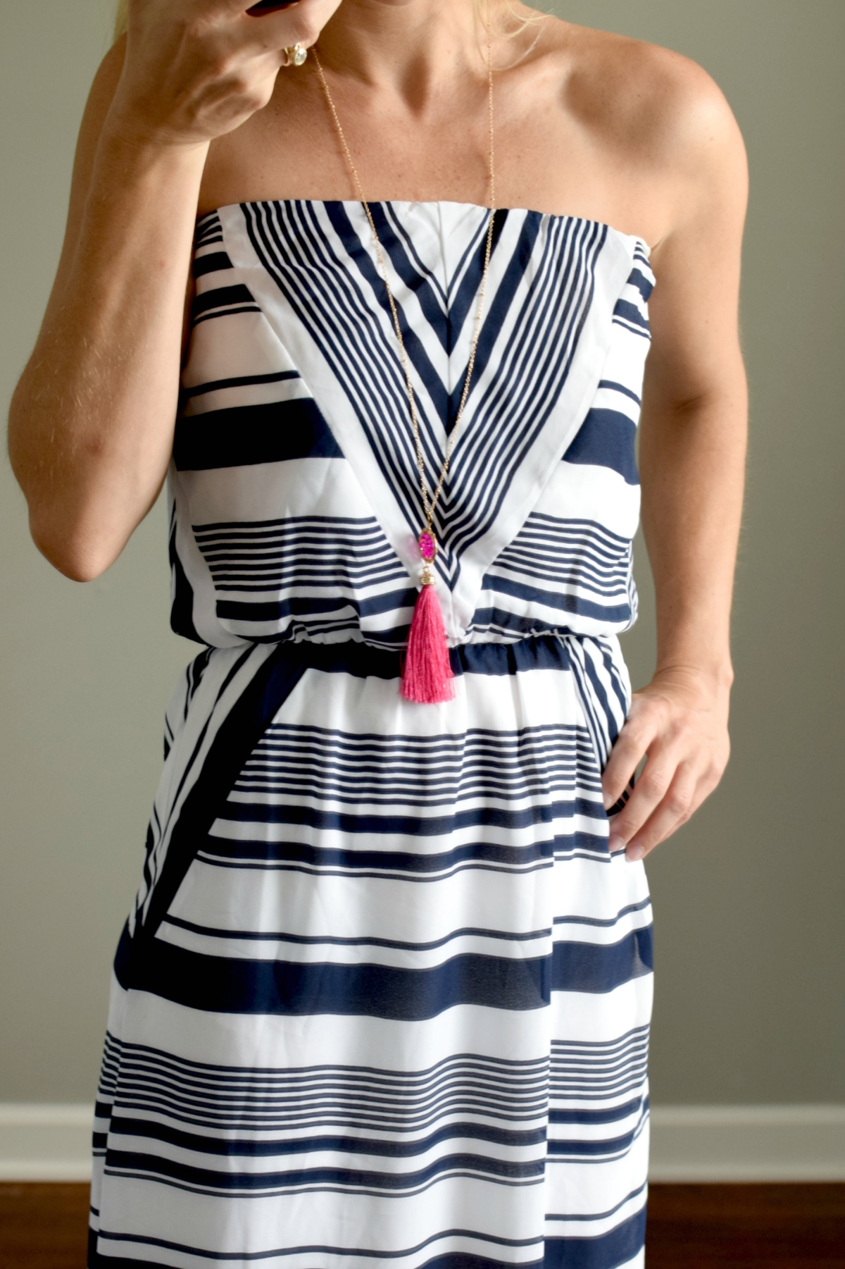 June 2016 Stitch Fix Review: One Market Marta Maxi Dress |www.pearlsandsportsbras.com|