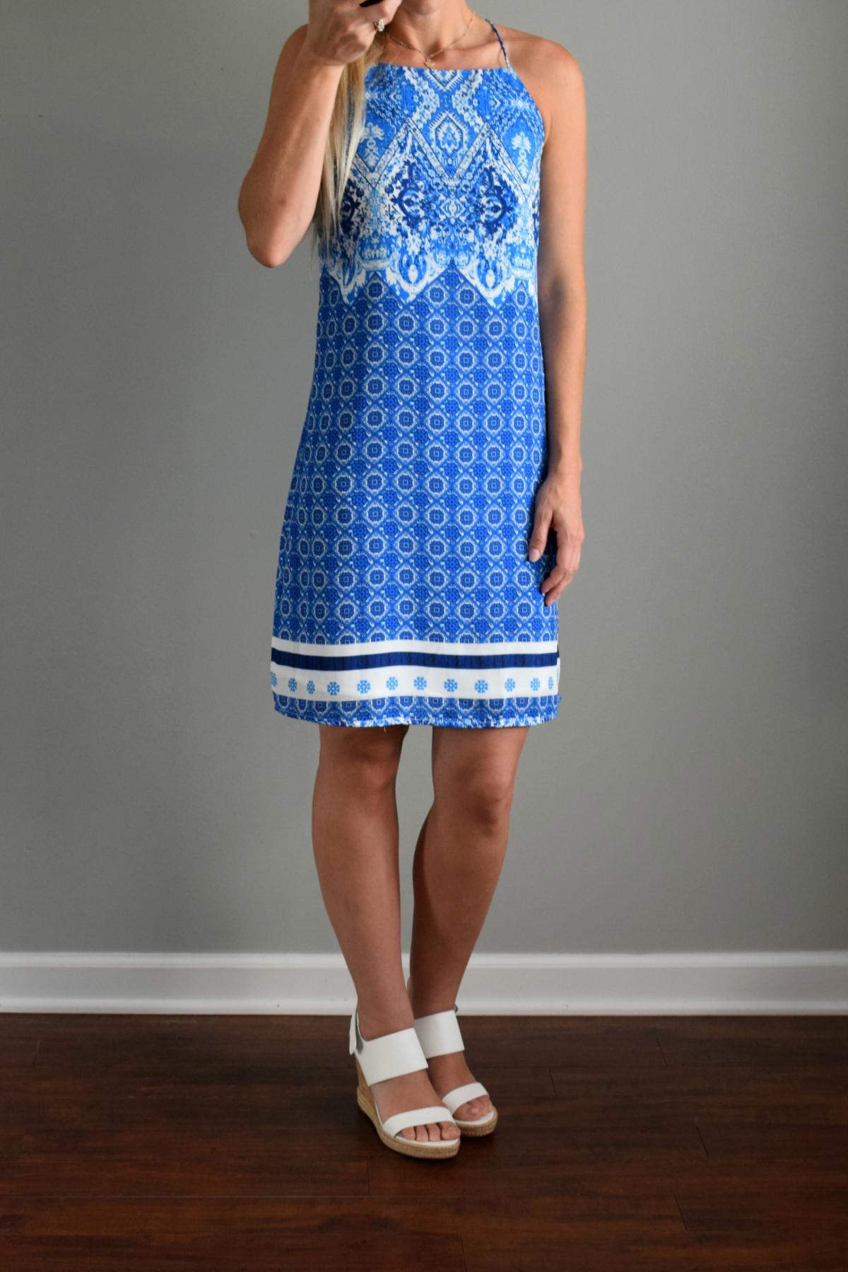 June 2016 Stitch Fix Review: Skies are Blue Lucielle Dress |www.pearlsandsportsbras.com|
