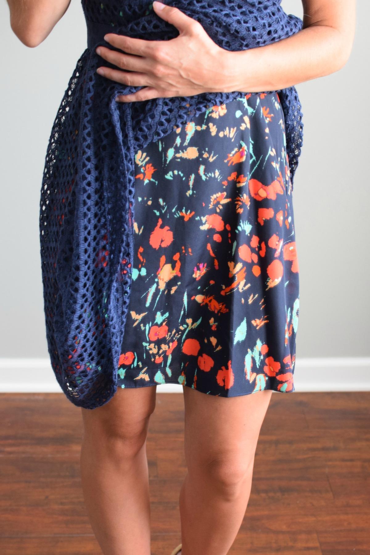 Stitch Fix Review July 2016: Plenty By Tracy Reese Chauna Woven Dress |www.pearlsandsportsbras.com|