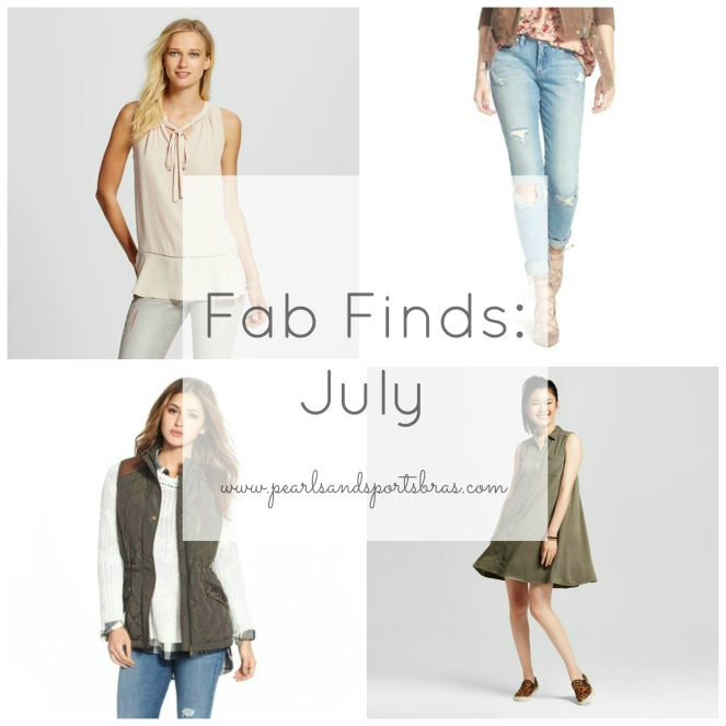 Fab Finds July 2016 |www.pearlsandsportsbras.com|