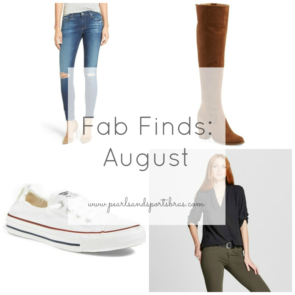Fab Finds August |www.pearlsandsportsbras.com|