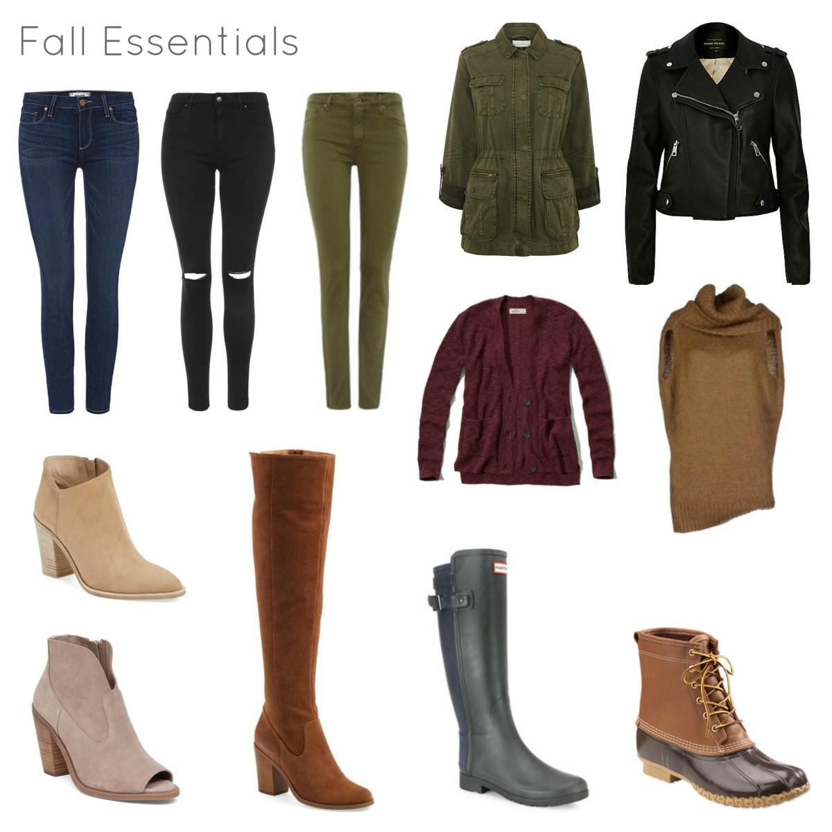 Fall 2016 Wardrobe Essentials  www.pearlsandsportsbras.com 