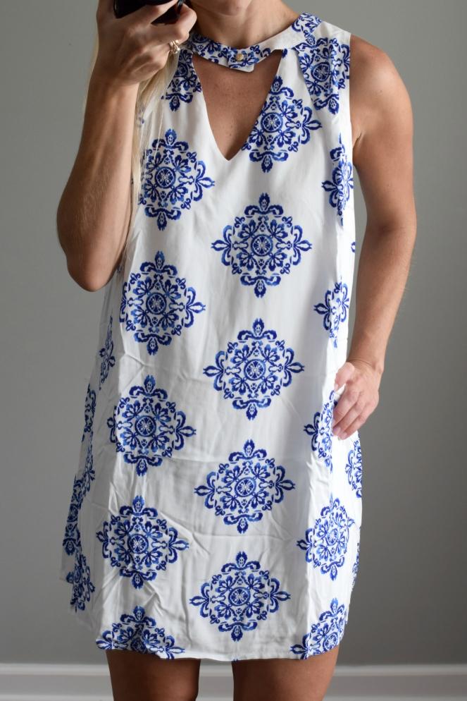 Golden Tote August 2016 Review: Pink Owl Diamond Print Dress  www.pearlsandsportsbras.com 