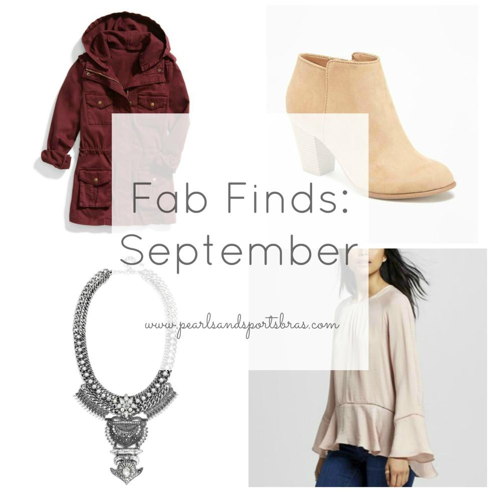 Fab Finds September |www.pearlsandsportsbras.com|