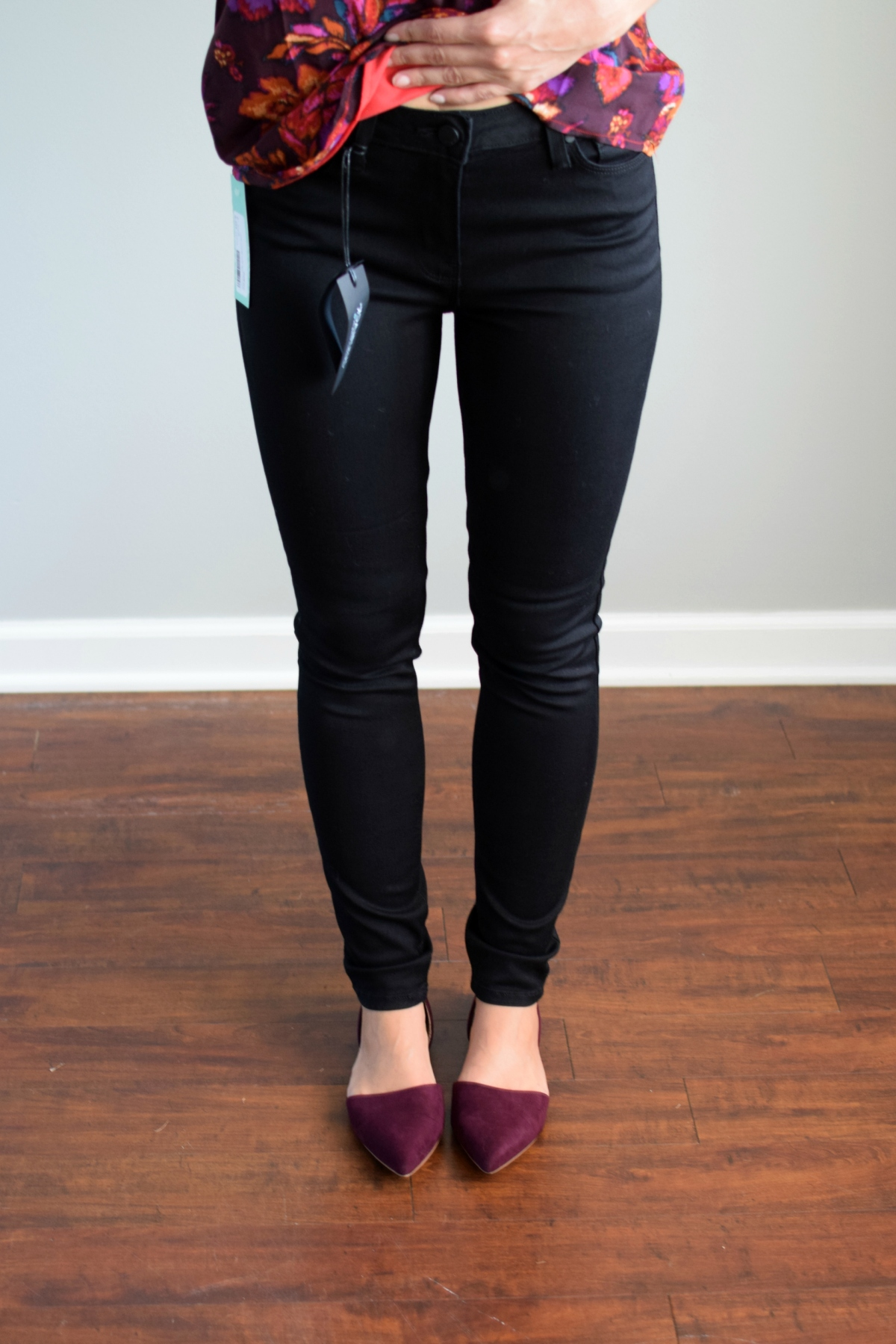 Stitch Fix Review October 2016: Just Black Autumn High Rise Skinny Jean |www.pearlsandsportsbras.com|