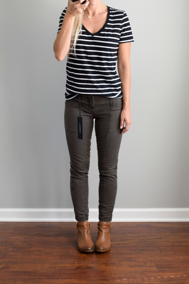 September 2016 Stitch Fix Review: Liverpool Indy Cropped Skinny Cargo Jean |www.pearlsandsportsbras.com|