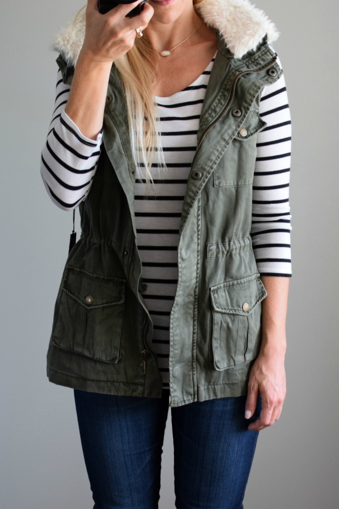 Stitch Fix Review October 2016: Tinsel Odensay Cargo Vest |www.pearlsandsportsbras.com|