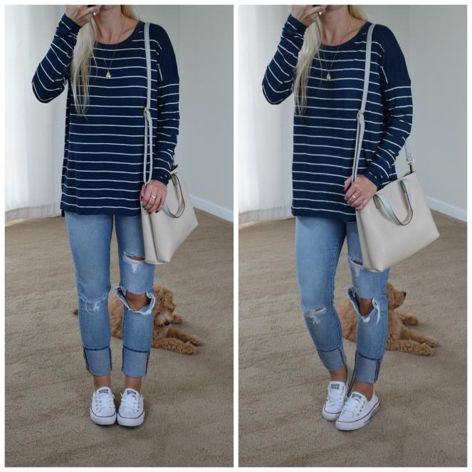 casual stripes |www.pearlsandsportsbras.com|