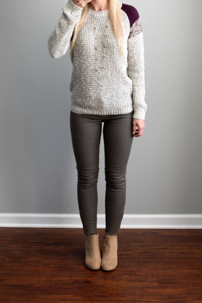 Stitch Fix Review October 2016: Absolutely Pawny Pullover Sweater |www.pearlsandsportsbras.com|